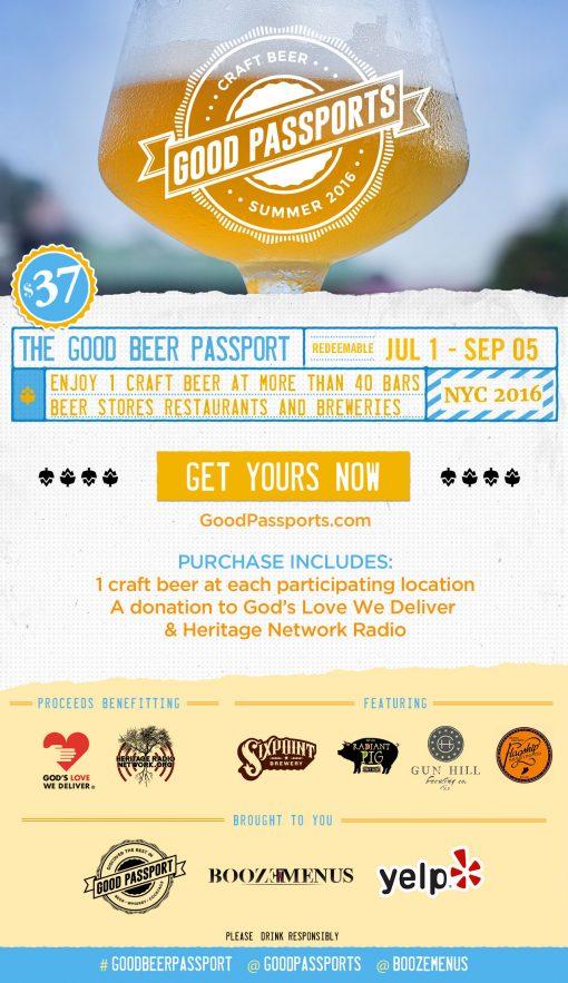 Good Beer Passport NYC 2016 Summer