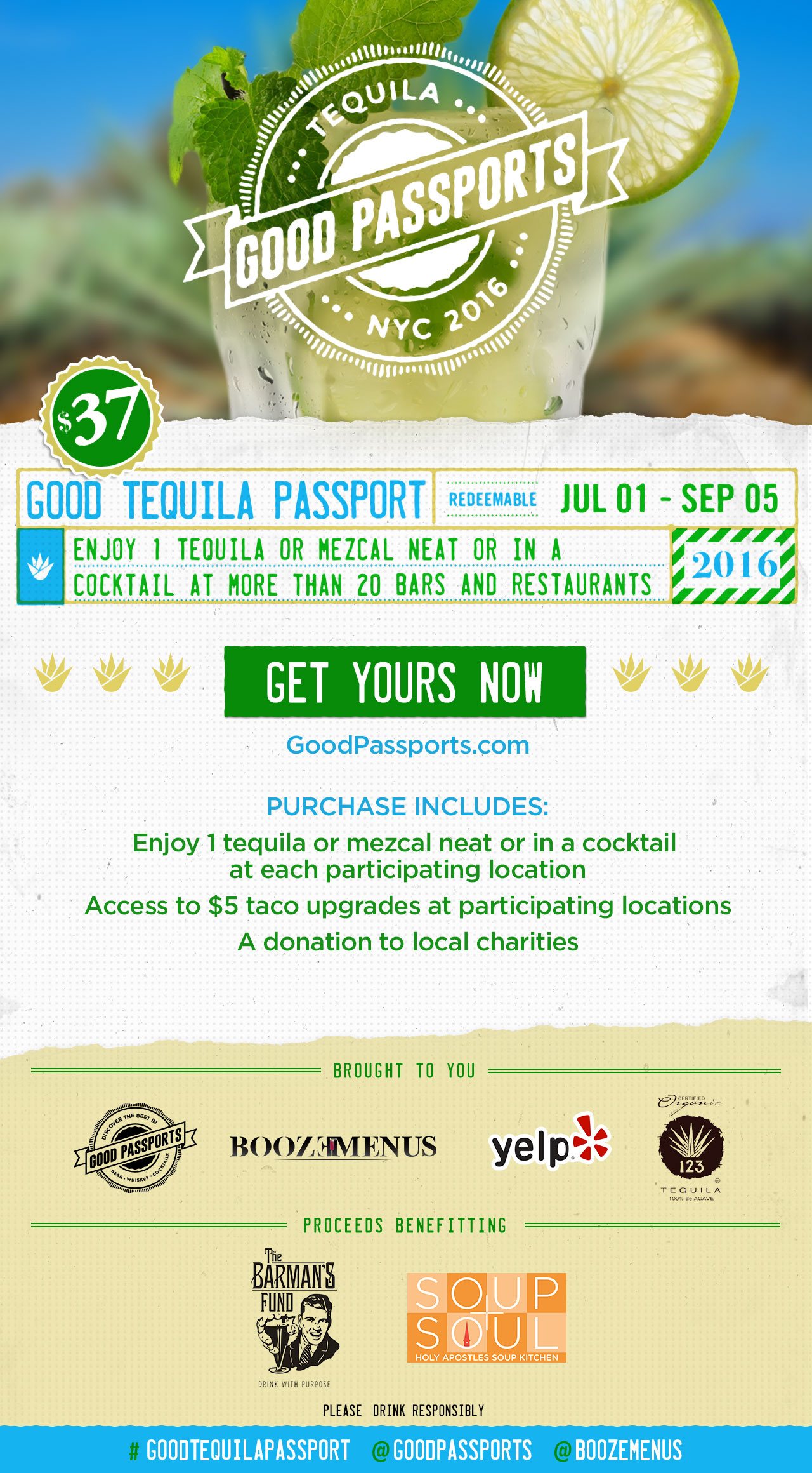 Good Tequila Passport - 20+ Tequila Drinks for only $37